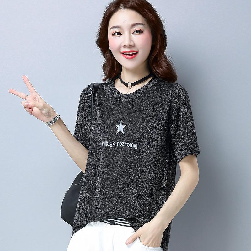 2018夏季新款美欧哥弟菲女装正品国内代购韩版宽松短袖T恤打底衫