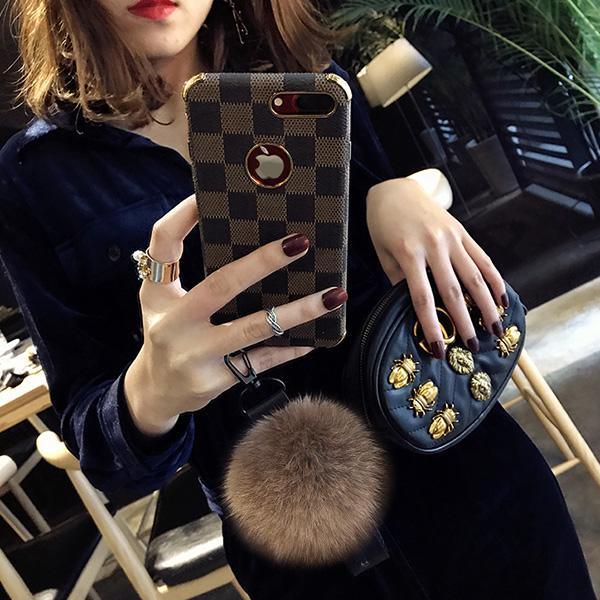 毛绒毛球苹果8plus手机壳女潮牌iphoneX软套欧美大气6s时尚个性7p