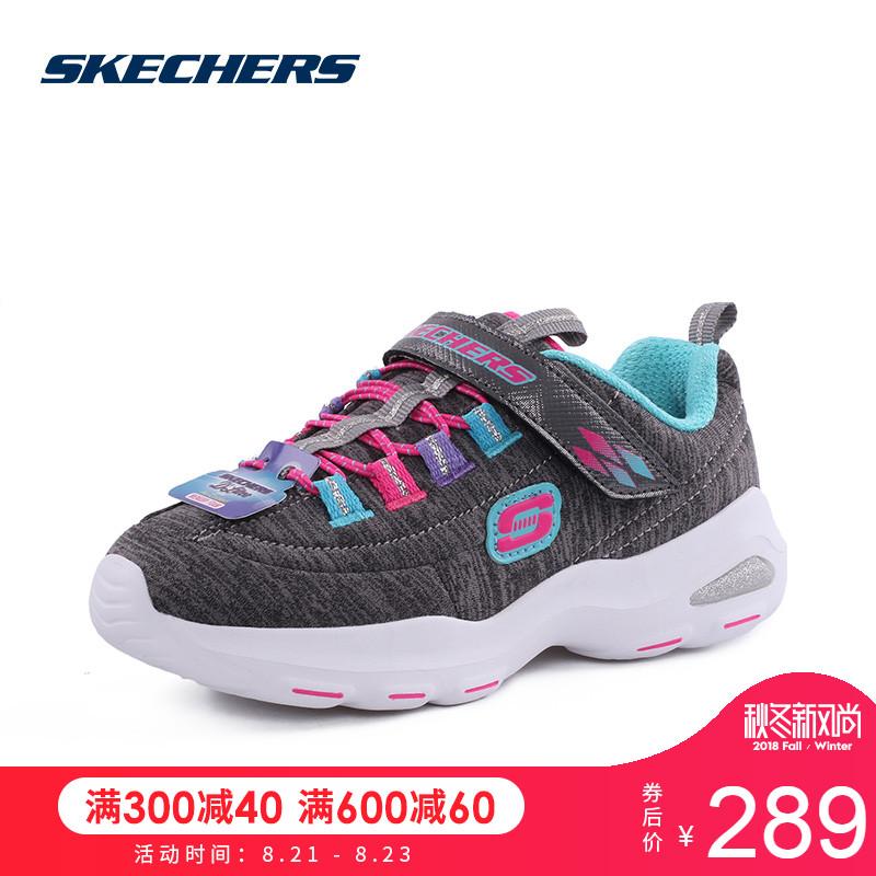 Skechers斯凯奇女童鞋 D'LITES系列 魔术贴运动鞋休闲鞋80667L