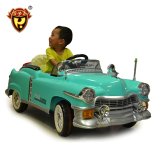Child king electric car four children can take the high-end dual-drive classic cars with remote control baby car baby toys-games