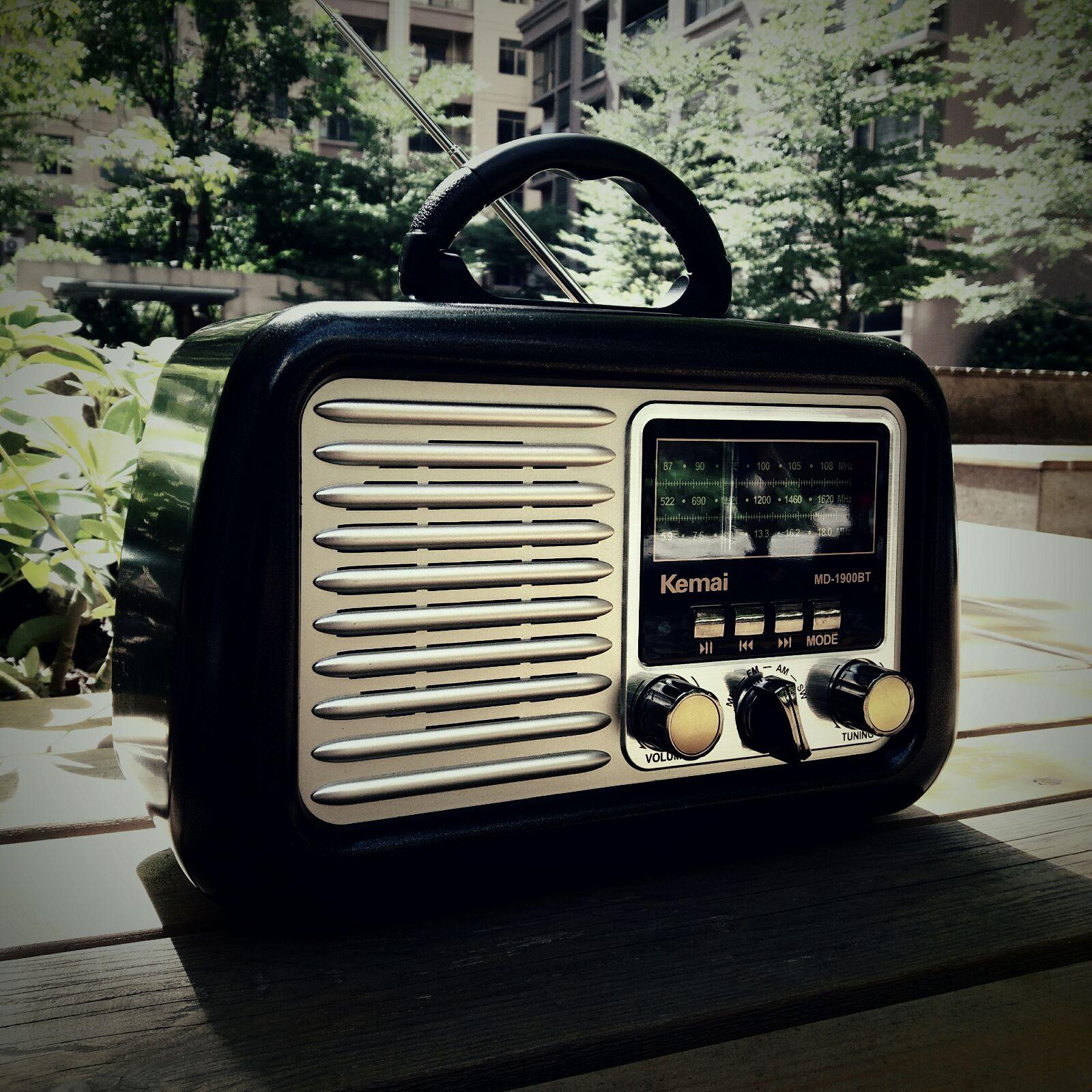 欧美复古收音机蓝牙音箱全波中波短波台式户外广场舞音响充电