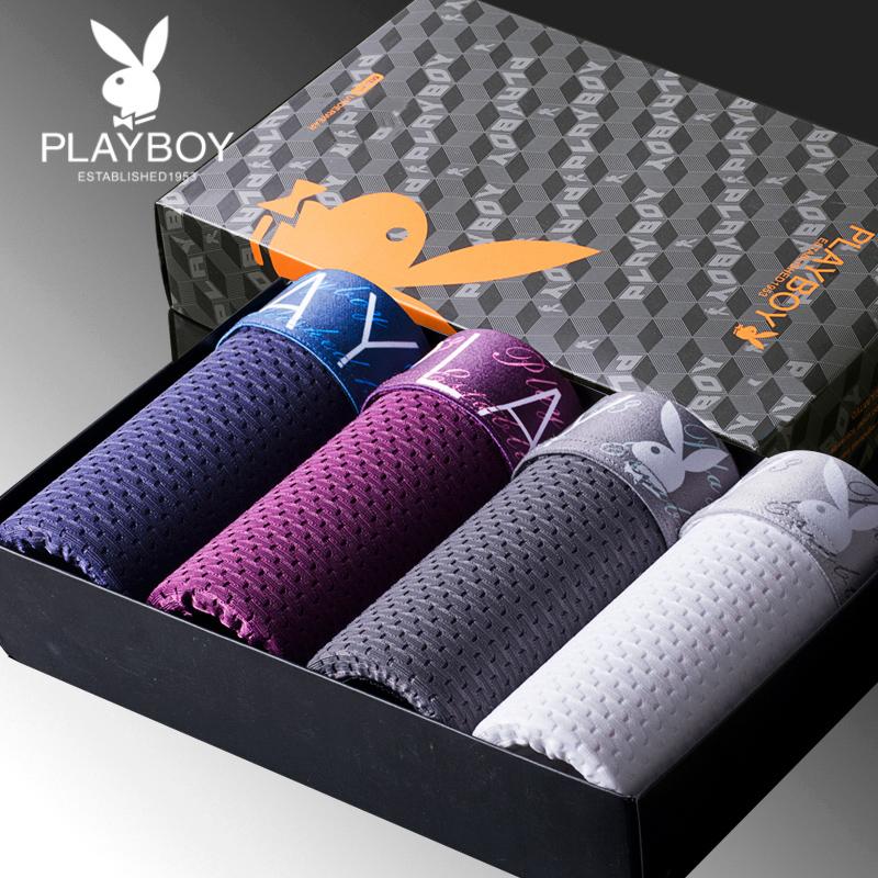 Мужской трусы брюки playboy четыре углы большой двор ремни осень воздухопроницаемый молодежь волна шелк льда трусы мужчина