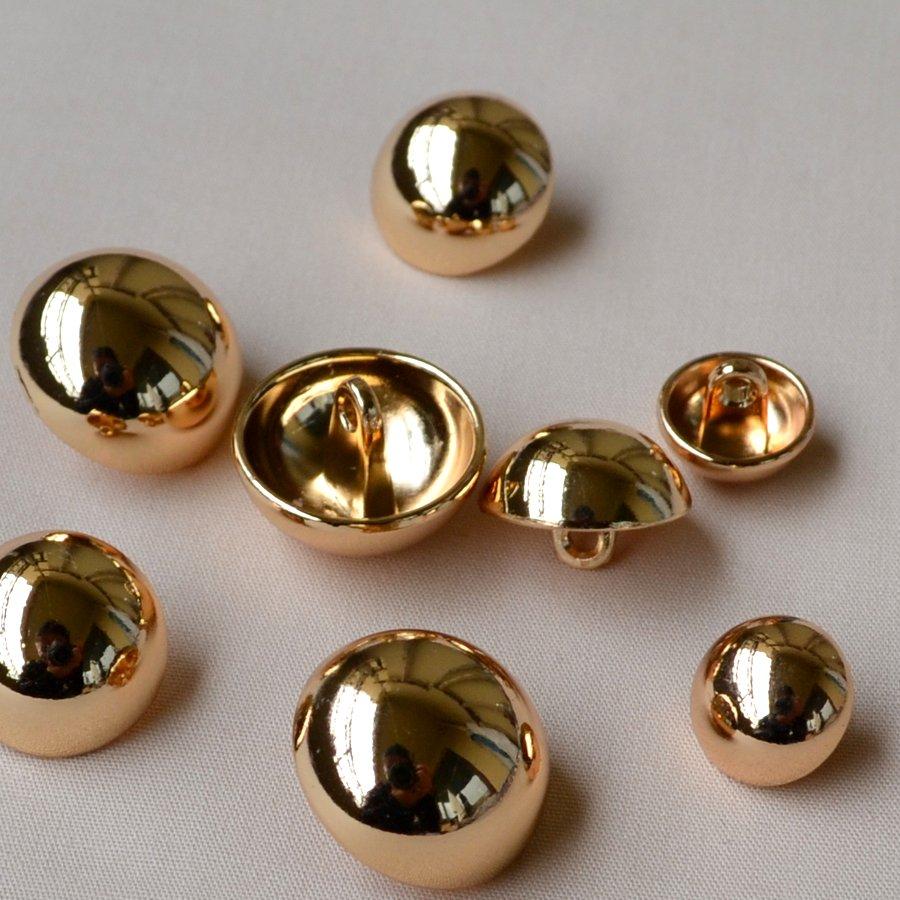 高級春シャツ/コート/セーター金属キノコ半円ボタン鏡面バラゴールドボタン