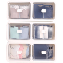 Lingerie storage Box women drawer style split wardrobe underwear socks bra box household storage box plastic finishing Box