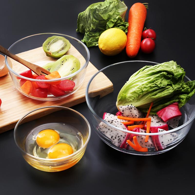 Кухня прозрачное стекло чаша домой чаша фрукты салат чаша большой размер суп десерт чаша творческий есть рис посуда чаша