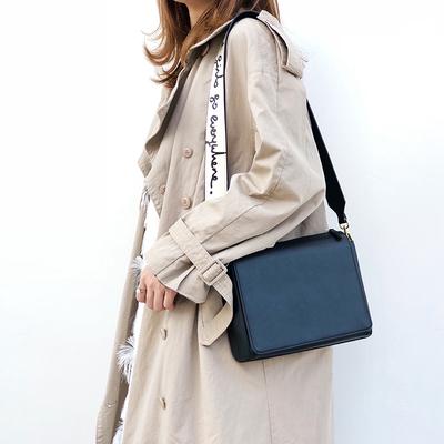 TENNCO 包包女2019新款牛皮小方包涂鸦宽肩带斜挎包时尚链条女包
