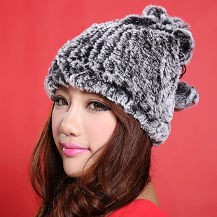 2015 winter new Korean version of the first ladies fur hat Rabbit fur scarves dual warm hat scarf Specials