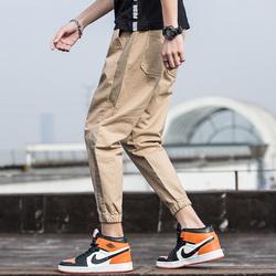 19新款男潮牌宽松休闲运动束口裤脚百搭工装裤224-1-Z808-P45