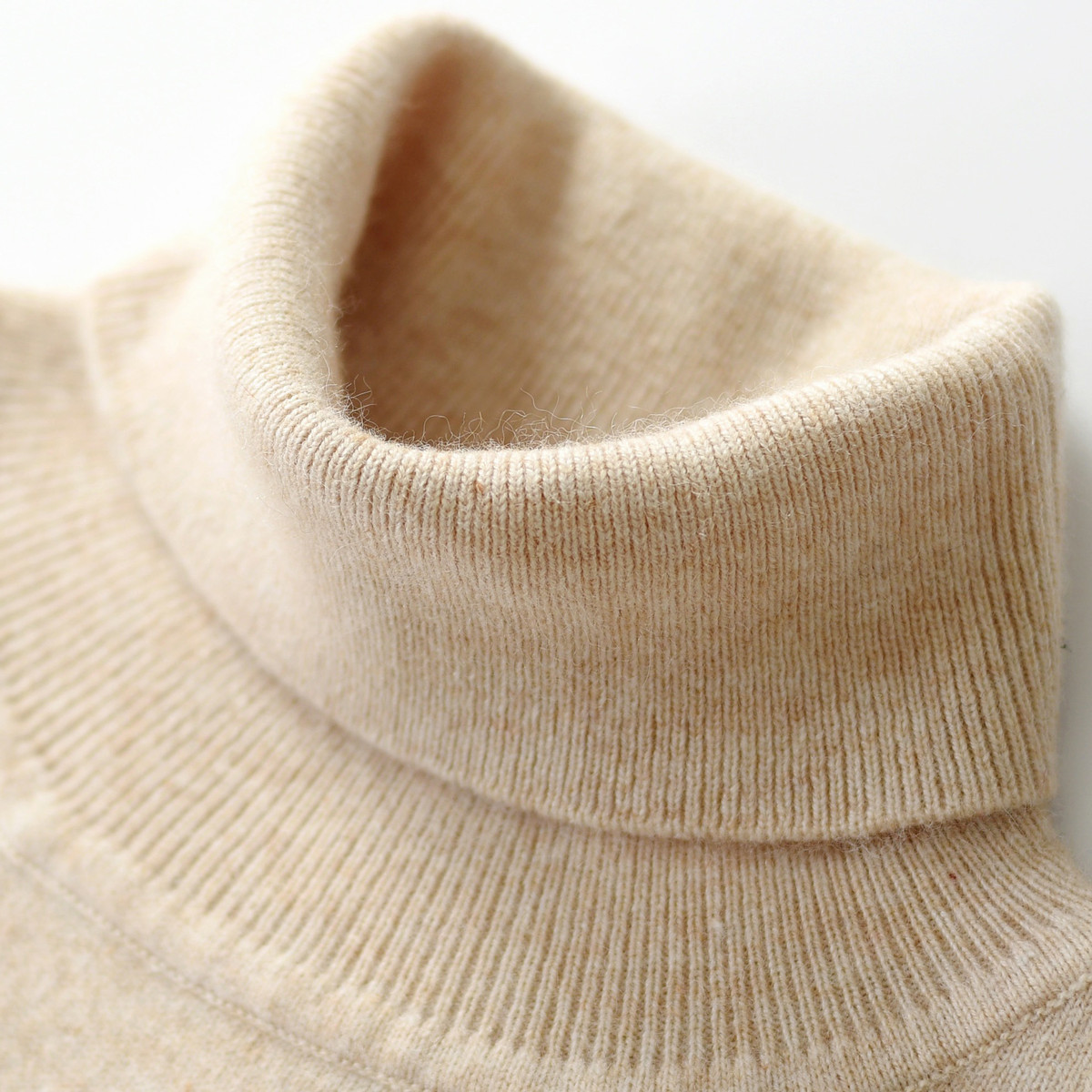 【反季清仓】秋冬新款羊绒衫男高领针织打底衫大码羊毛衫翻领毛衣
