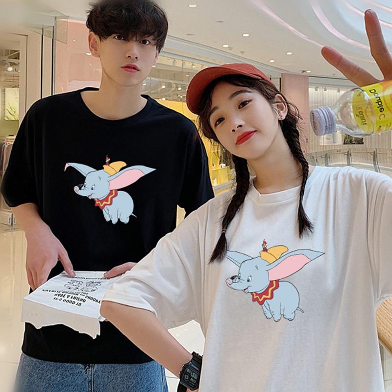 唐唐 小飞象T恤短袖女明星同款迪士尼超超火cec短袖女 韩版打底衫