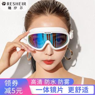 泳鏡女大框防水防霧高清護目鏡游泳眼鏡男泳帽套裝潛水鏡裝備近視