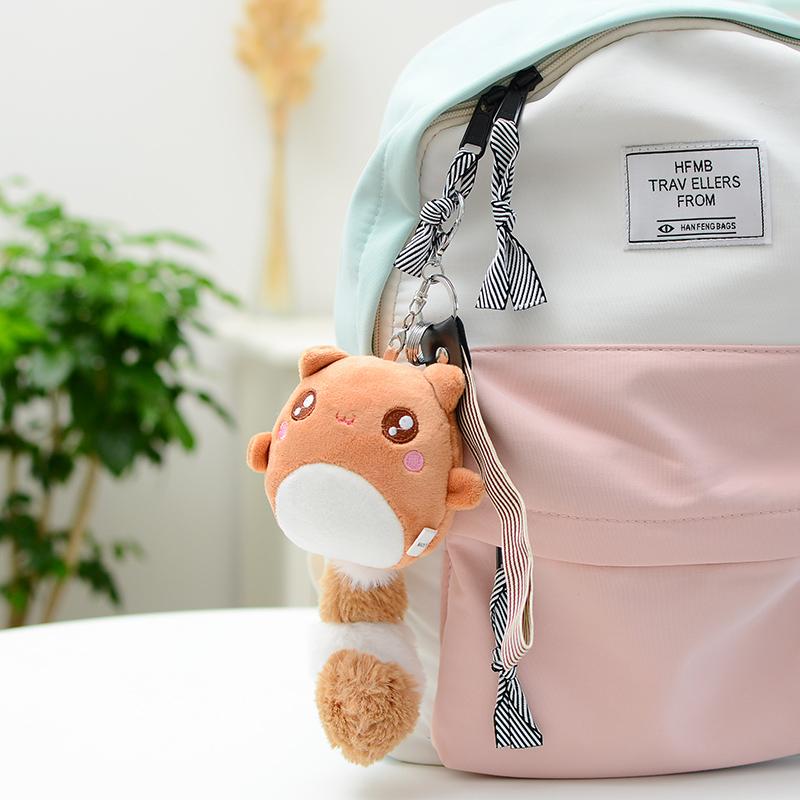 可爱奇尾熊毛绒挂件小熊书包挂饰汽车钥匙扣长尾巴公仔礼品送女生