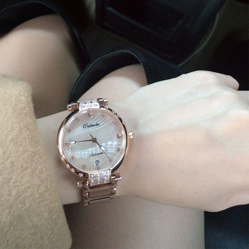 Carlyle brand women's watch automatic mechanical watch temperament steel band fashion authentic brand waterproof women's watch fashion