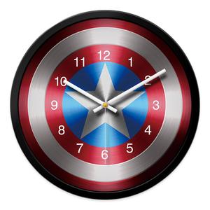 美国队长钟表儿童房挂钟男孩卧室静音卡通挂钟客厅创意时钟挂墙