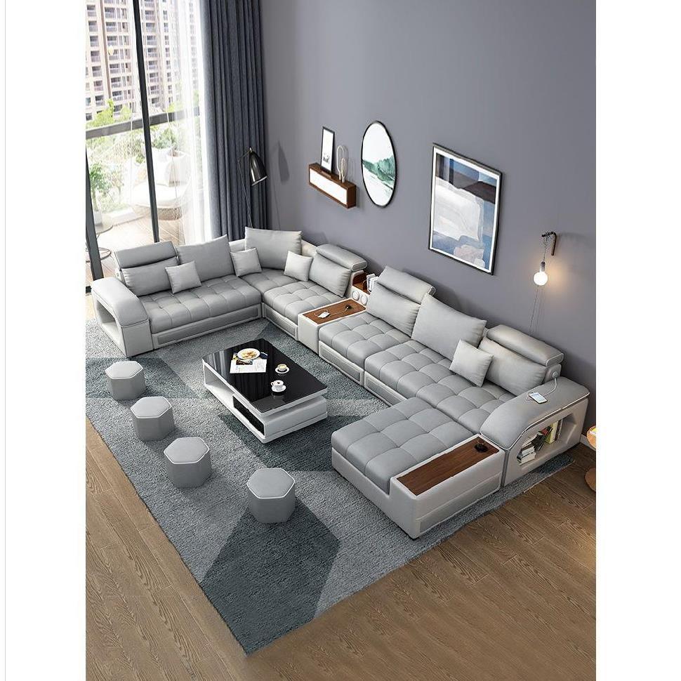 布料免洗沙发布艺科技布拆洗民宿大户型三件套休息风格简易沙发