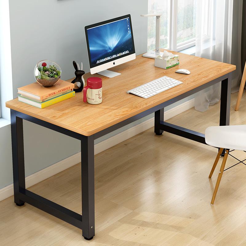 仿实木电脑台式桌送椅子家用整装卧室简易学生写字桌子学习桌简约
