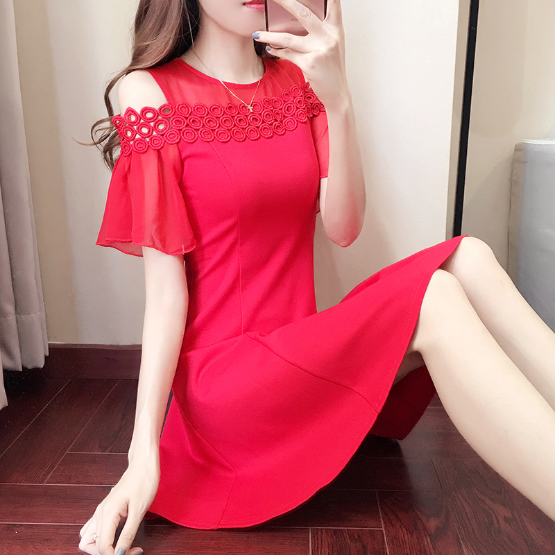 敬酒服新娘2018夏季显瘦结婚礼服回门订婚宴会短款红色连衣裙女装