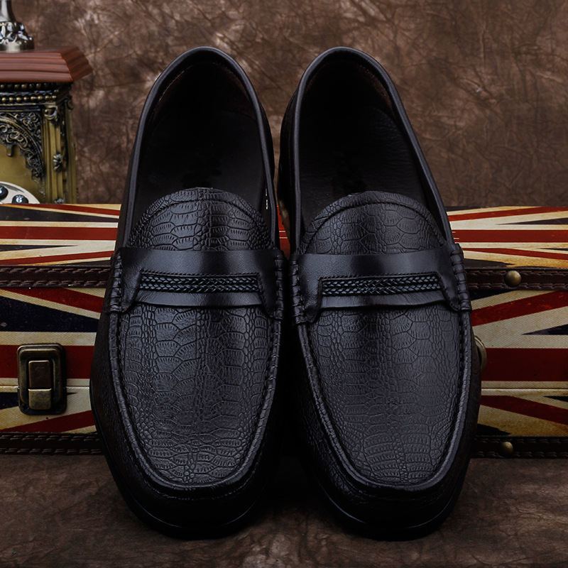 Private customized mens business casual real DEERSKIN LEATHER SHOES luxury single shoes Lefu shoes