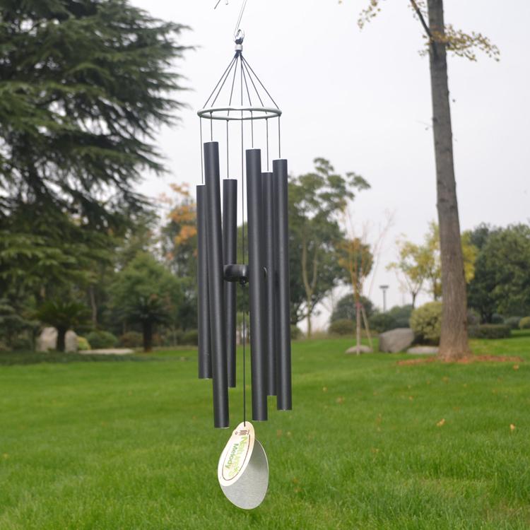 创意金属管冥想音乐风铃挂饰户外铁艺花园日式风铃家居装饰品挂件