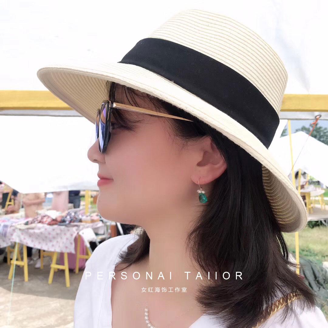 Summer breeze quartz with mini Pearl Earrings