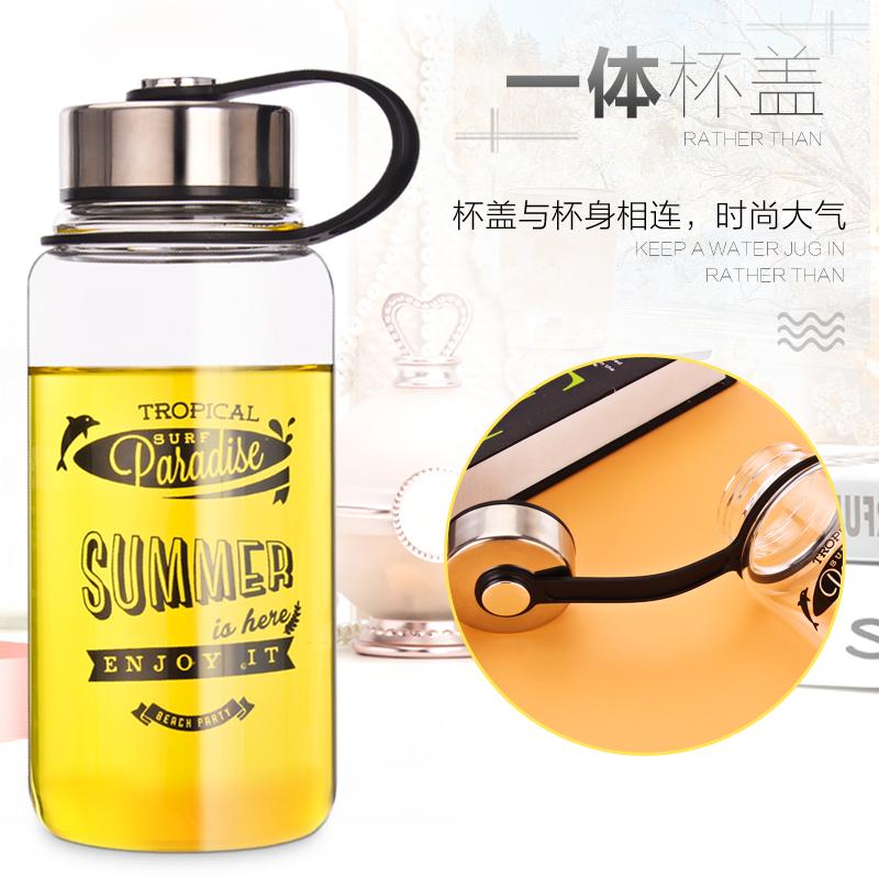 玻璃杯子便攜大容量水杯1000ml耐熱 戶外 車載泡茶水瓶