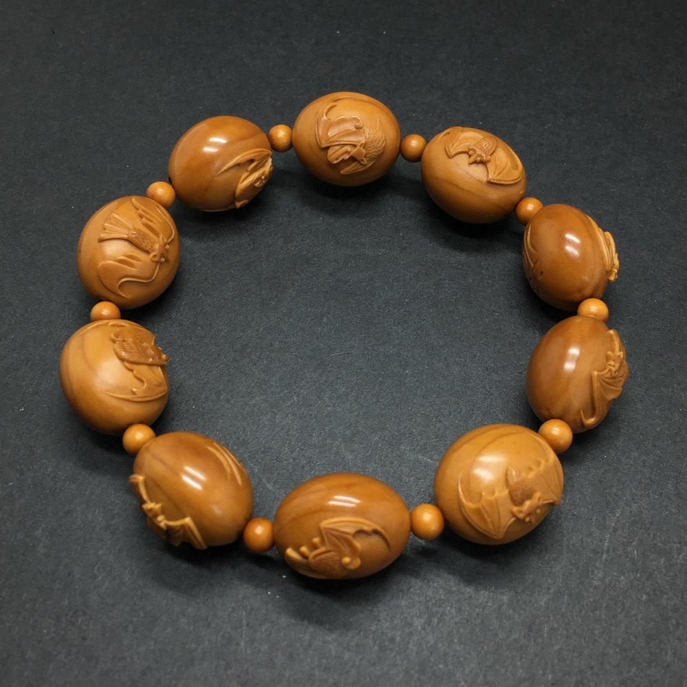 檀趣直播橄榄核雕手串手链原创手工编织橄榄胡手把件文玩紫檀菩提