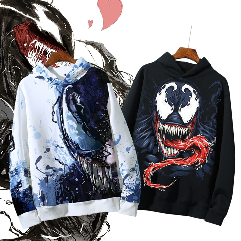 Venom 2020 new style of mens Hoodie Plush thickened BF style loose fashion student coat