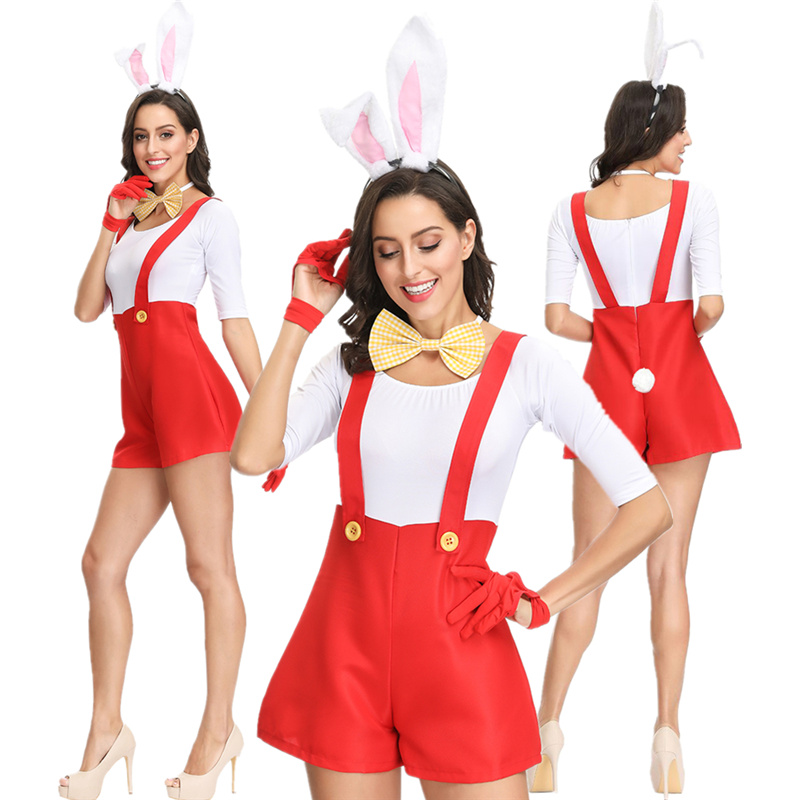 Halloween Bunny as uniform Bunny singer stage costume Casino Bar stage costume
