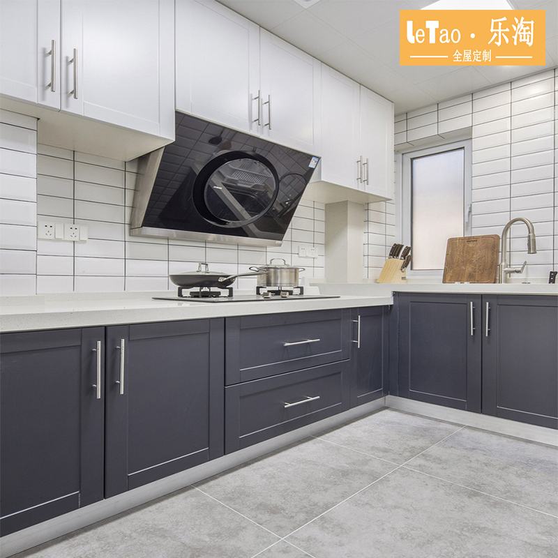 Whole cabinet custom kitchen cabinet custom modern simple cabinet door stainless steel quartzite table top all room custom
