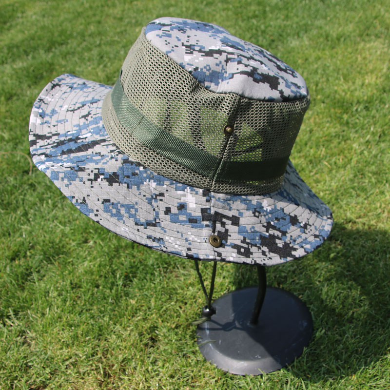網布迷彩帽男女夏季戶外遮陽帽西部牛仔作訓帽軍迷戰術圓邊奔尼帽