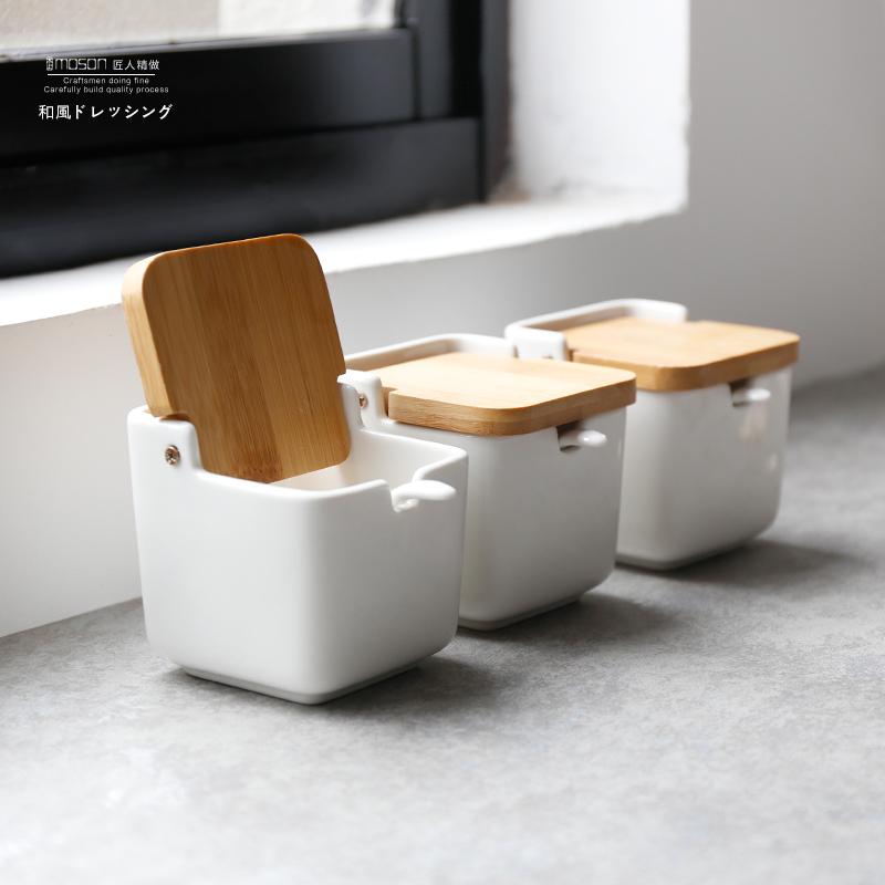 满10元可用3元优惠券木上陶瓷创意日式厨房用品瓶调料盒