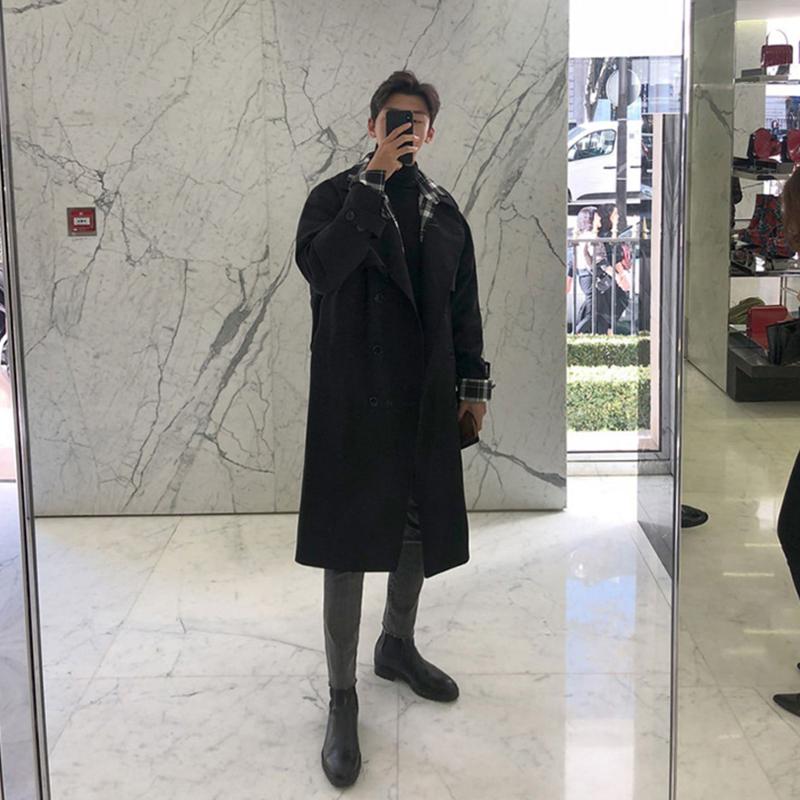 2021春季高质量风衣品质优选风衣男韩版中长款过膝大衣MX968-P90