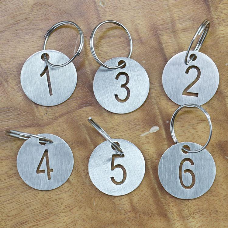 耐高温不锈钢编号数字牌定制激光镂空切割牌子空心号码牌定做