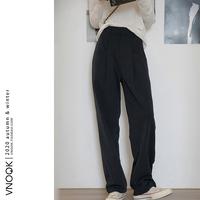 查看VNOOK2021  bi入!直筒西裤女高腰垂感宽松显瘦时髦百搭阔腿裤价格