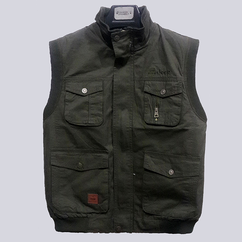 Winter wool vest and fur one piece mens leather waistcoat