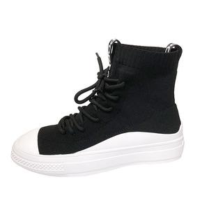 襪靴馬丁靴女夏季薄款女襪子鞋網紅瘦瘦靴內增高短靴單靴彈力靴子