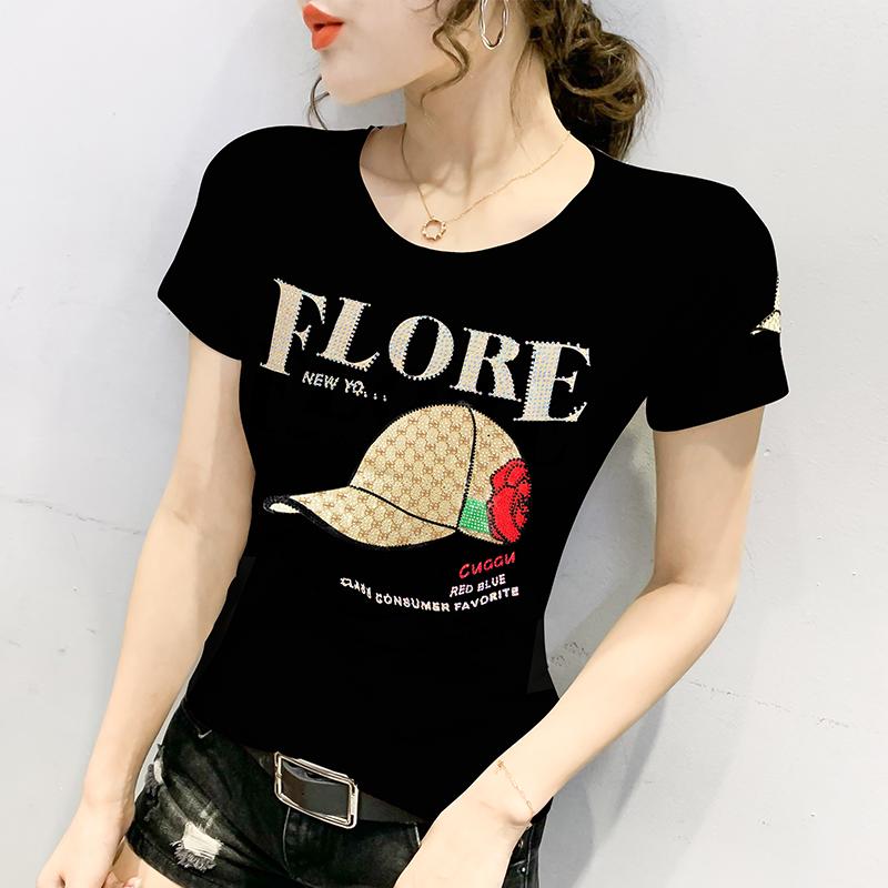 夏季欧货新款韩版修身黑白色t恤质量如何
