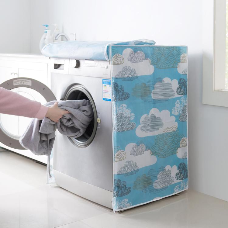 Японский простой ролик стиль стиральная машина крышка водонепроницаемый солнцезащитный открытым автоматический общий волна круглый пылезащитный чехол
