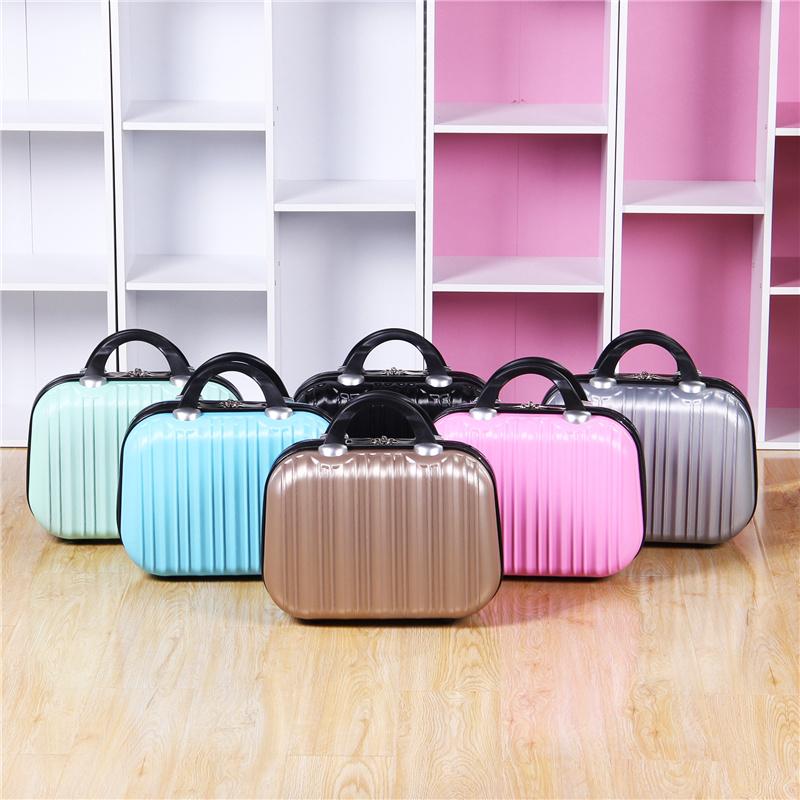 包邮韩版手提小行李箱女14寸化妆包16寸手提小旅行箱结婚箱小箱子