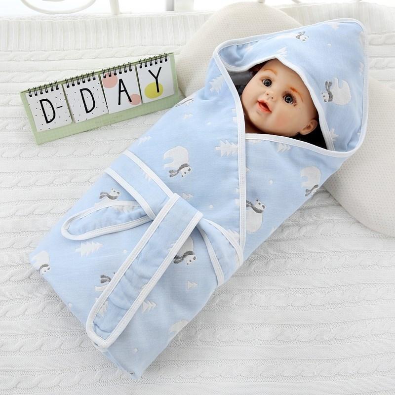 婴儿抱被夏季纯棉被子新生儿包被薄款婴幼儿新生婴儿用品必备入院,可领取2元天猫优惠券