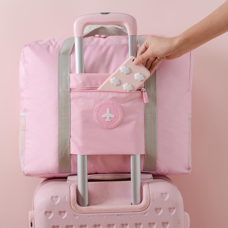旅行袋手提女短途小便攜大容量行李搬家袋單肩包男輕便拉桿旅行包