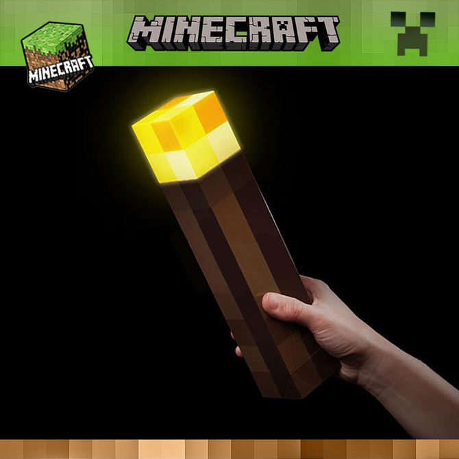 模型变色瓶灯 玩具发光火把火炬 世界周边 钻石矿灯创意儿童礼物 我