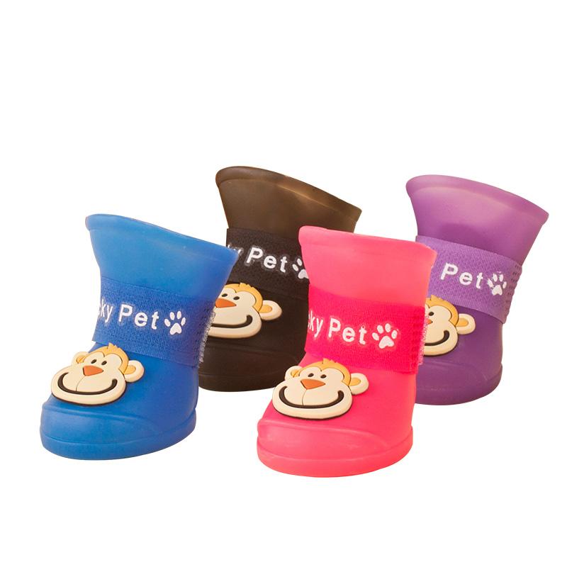 糖果色狗狗鞋子雨鞋防水寵物鞋夏天泰迪狗腳套涼鞋比熊小狗狗用品