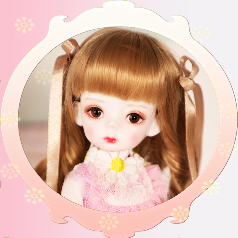 Set BJD dolls SD dolls soo1 / 6 points baby girls Joint Doll Bag mail eyes pink set