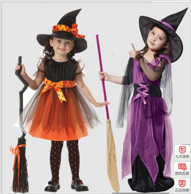 2021万圣节服装欧美儿童cosplay动漫服饰女巫角色扮演万圣节服饰