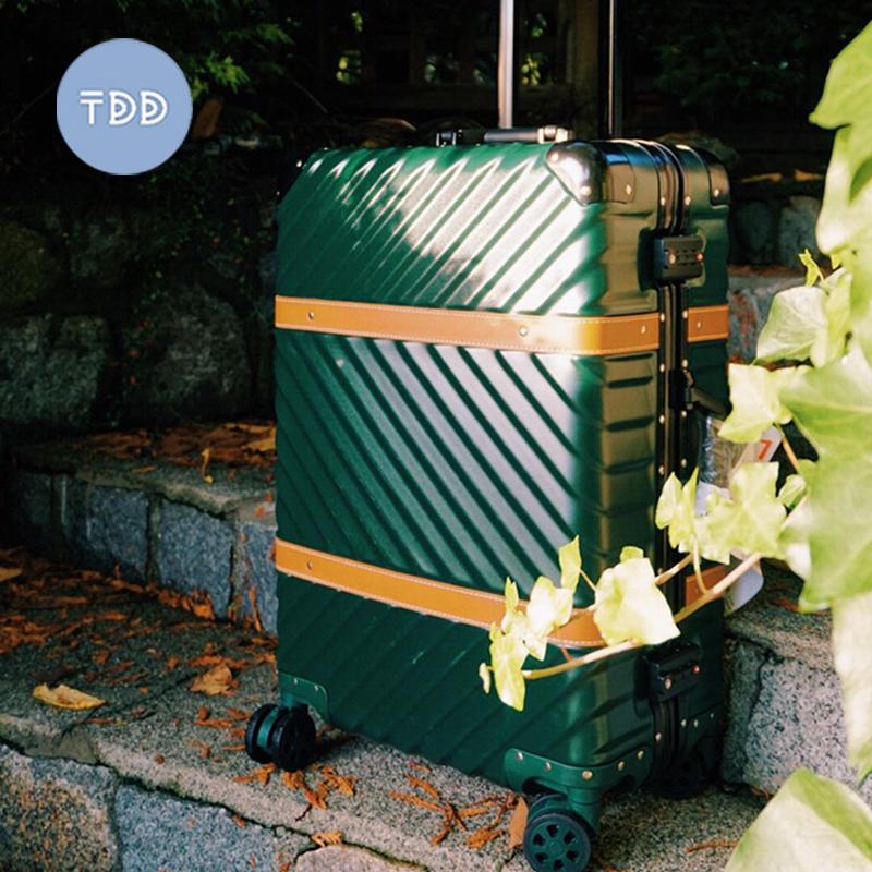 【桶刀刀】可拆卸刹车静音万向轮磨砂防刮拉杆行李箱女博主推荐!