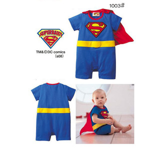 Hot boy Superman modeling clothing + Swimming cap Swimming clothes children piece swimsuit hot spring swimwear