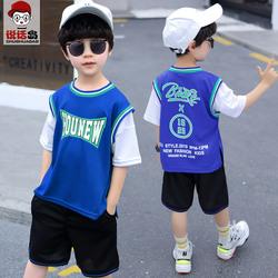 童装男童夏装运动套装2020新款儿童夏季速干衣男孩中大童篮球服潮