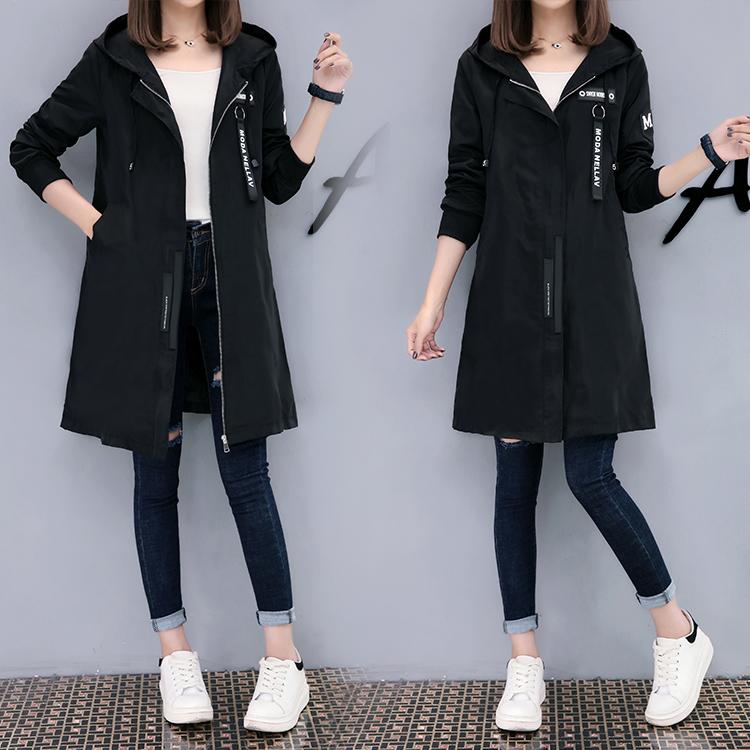 Windbreaker coat womens medium length Korean version 2020 new spring and autumn Korean version student versatile BF Harajuku loose Baseball Jacket