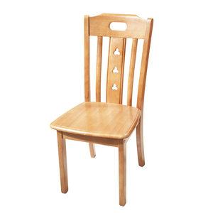 全实木餐椅酒店家具白色靠背休闲椅橡木餐厅餐桌办公椅子小户型用